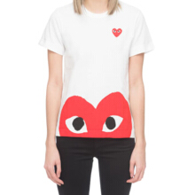 COMME DES GARCONS Peek a boo Heart Shirt Woman - White