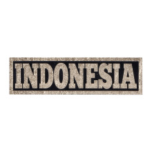 Tactical Series Velcro Patch 2.5 x 9 cm - Indonesia - Black Gold