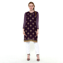 CHANIRA FESTIVE COLLECTION Ramzia Embroidered Short Tunic - Purple