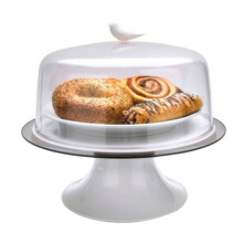QUALY Sparrow Cake Tray - White/QL10189WH