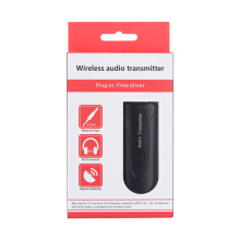B5 Wireless Bluetooth 4.1 3.5mm Stereo Music Audio Transmitter Sender Adapter Black
