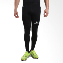 Tiento Baselayer Long Pants Black Compression Celana Panjang Ketat Hitam Legging Olahraga