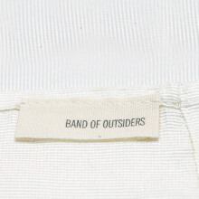 B.O OUTSIDERS Band Of Outsiders 12 X 12 Pocket Sqaure White Faille Os - White  OS [BOO-SS14-BM9M05606061-WHT-OS]
