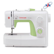 SINGER 3229 Simple Mesin Jahit Portable - Putih-Hijau