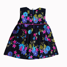 Meatball Black Garden Floral Dress