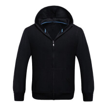 BESSKY Men Sport Zip Fleece Warm Hooded Long Sleeve Pocket Casual Jacket Coat _