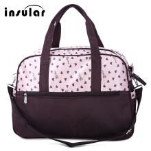 Multifunctional Heart Printed Baby Diaper Bag Mummy Handbag(Pink)