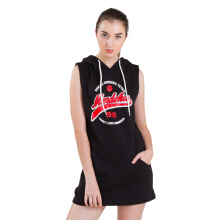 DAMN! I LOVE INDONESIA Merdeka Hoodie Dress - Black