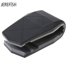 JEREFISH universal Car Phone Holder Adjustable Alligator Clip Vehicle-mounted Scaffold Holder Cradle Mount Bracket Grey