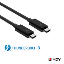 LINDY Thunderbolt 3 Cable 2m - Black