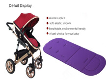 Solid Color Breathable Cotton Cushion for Baby Carriage-Purple