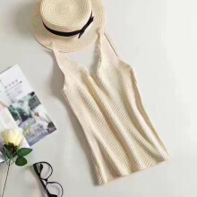 New style long paragraph Sling jacket  Lash lace Slim and slim Casual knit vest