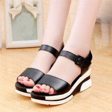BESSKY Women's Summer Sandals Shoes Peep-toe Low Shoes Roman Sandals Ladies Flip Flops_
