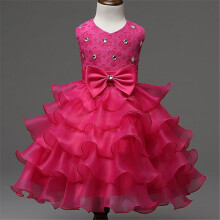 BESSKY New Sundress Nail Bead Girls Dress Wedding Party Dresses_