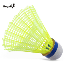 Regail 600 6pcs / Set Indoor Gym Exercise Outdoor Sport Nylon Badminton Ball
