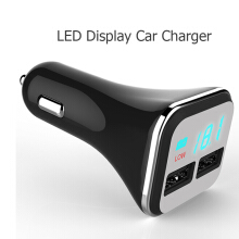 KYM R50S Car charger with 2 USB port Car Charger 4.8A Quick Charge Car-Charger LED Display Mobile Phone Charger