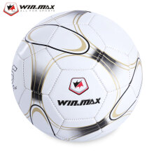 WIN MAX Machine Sewing PVC Soccer Football Ball for Training Competition