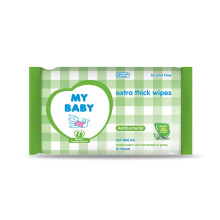 MY BABY Extra Thick Wipes Antibacterial - 10 Sheet