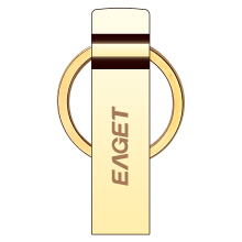 EAGET U90 32G USB 3.0 Official Licensed Flash Drive  Pendrive Key Ring Memory Golden Stick