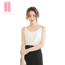 Pink Door White Basic Top White All Size