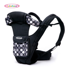 Colorland Baby Carrier with Three-dimensional Surround Protection CapsBLACK GRAY DOT PATTERN