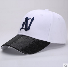 BAI B-265 Adjustable Baseball Cap MBL Hiphop cap with N design White&Black color