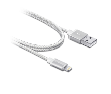 Innergie MagiCable USB To Lightning Braided 1 M Charge And Sync Apple Iphone Ipad - White