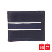 Miniso Official Men's Horizontal Wallet (Blue) (08F8-7210MN)