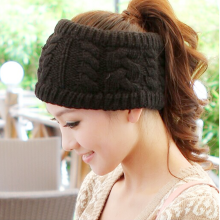 Fashion Korean Winter Warm Women Braided Knit Hat Cap Headband Hair Bands