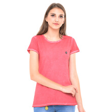 GREENLIGHT Plain Basic Washed Tee - Red