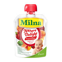 MILNA Nature Delight Fruit Puree - Apple and Peach 80g
