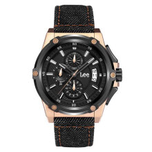 Lee Watch Metropolitan Gents Kulit Hitam Sporty M100DBV1-1R Black