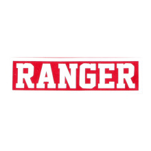 Tactical Series Velcro Patch 2.5 x 9 cm - RANGER - Red White