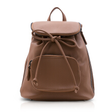 NEW COLLECTION Backpack with black metallic zipper detail - Brown