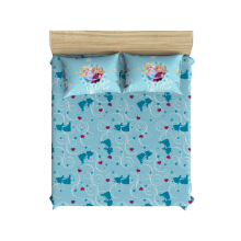 PILLOW PEOPLE Bed Sheet Set - Frozen Love Blue / 120x200cm