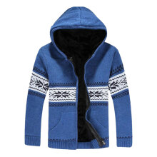 Men's  Hoodie Zipper Slim Fit Cardigan Sweater  Coat