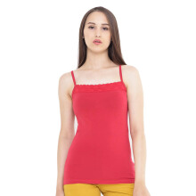 Mobile Power Ladies Brocade Combination Tanktop - Red A6807