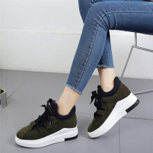 BESSKY Women Soft Casual Shoes Wild Flat Platform Breathable Spring Autumn Winter _