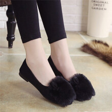 BESSKY Cute Warm Women Flats Shoes Snow Women Autumn Winter Shoes Fashion _