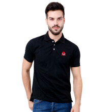 MONSTURO Black Polo for Men + Patch