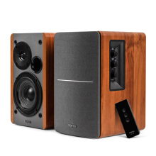 EDIFIER R1280T Powered Bookshelf Speakers - 2.0 Active Near Field Monitors - Studio Monitor Speaker - Wooden Enclosure - Brown