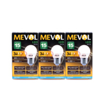 MEVAL Lampu LED Mini Bulb 3W - Cool Day Light / Putih 3Pcs