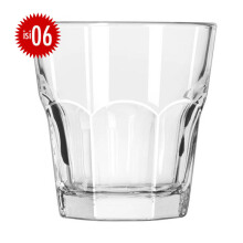 #LIBBEY Gelas Kaca Dover Rock set of 6 266ML - 15242IN