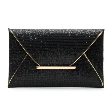 Lady Sparkling Dazzling Sequins Clutch Bag Purse Evening Party Handbag