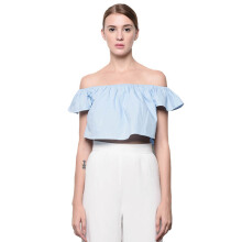 LOOKBOUTIQUESTORE Ara Crop Top - Baby Blue