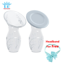 RealBubee Silicone Breast Pump With Free Lid and Baby Headband