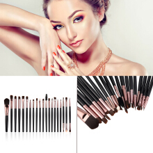 20 Pcs Eyebrow Lip Eyeshadow Fashion Complete Makeup Brush Set
