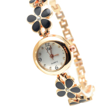 Korean Fashion Daisies Flower Rose Gold Bracelet Wrist Watch Women Girl gift