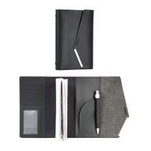 NUDESIGN Agenda with Pen + inside sheet ATG-A01M - Black / 20x3x13cm