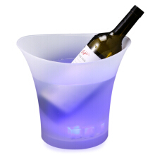 5L Colorful LED Ice Bucket Champagne Red Wine Beer Plastic Luminous Cooler